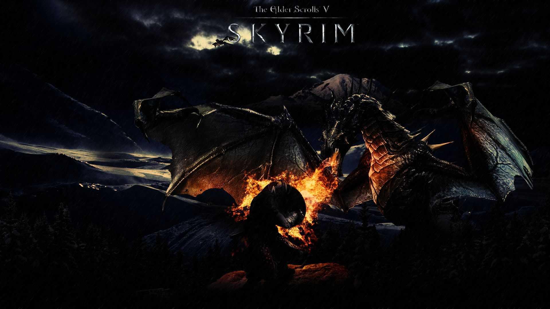 Amazing Sky In The Scrolls V Skyrim Wallpaper Elder