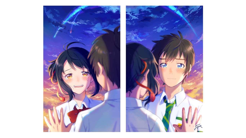 Anime Yourname Sky Illustration Wallpaper Art