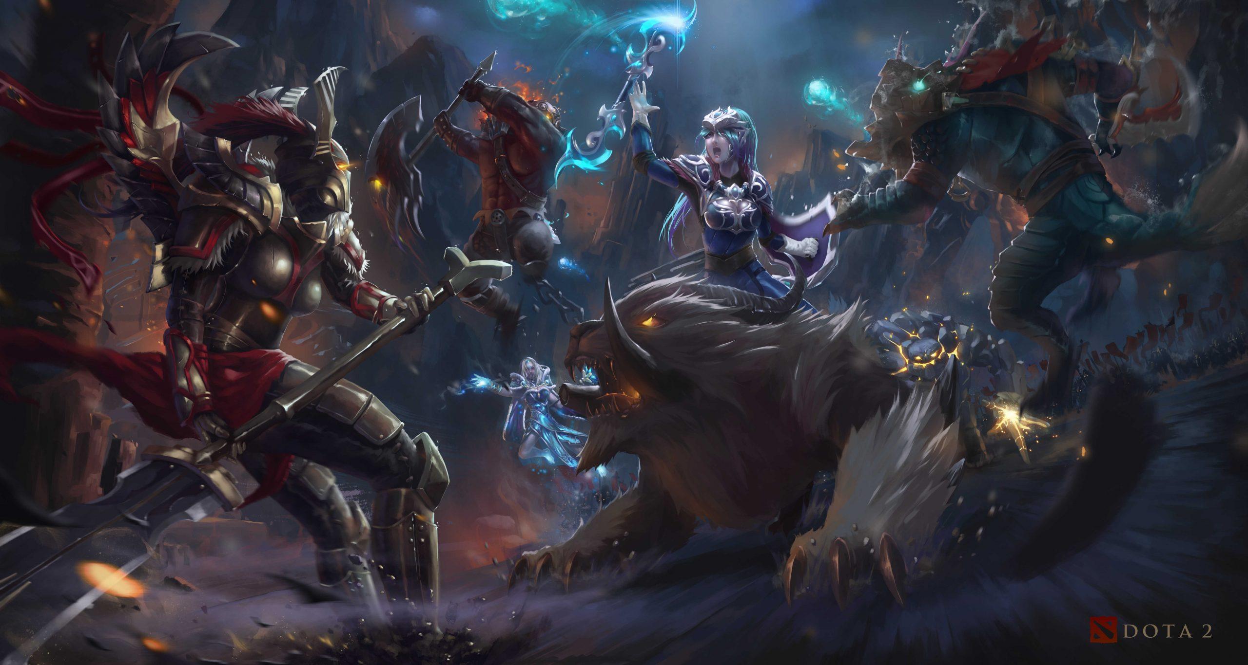 Arc Warden 4k 2 Monster Night Dota2 Artwork Dota 2 Arc Warden Hd Wallpaper & Background Download Dota