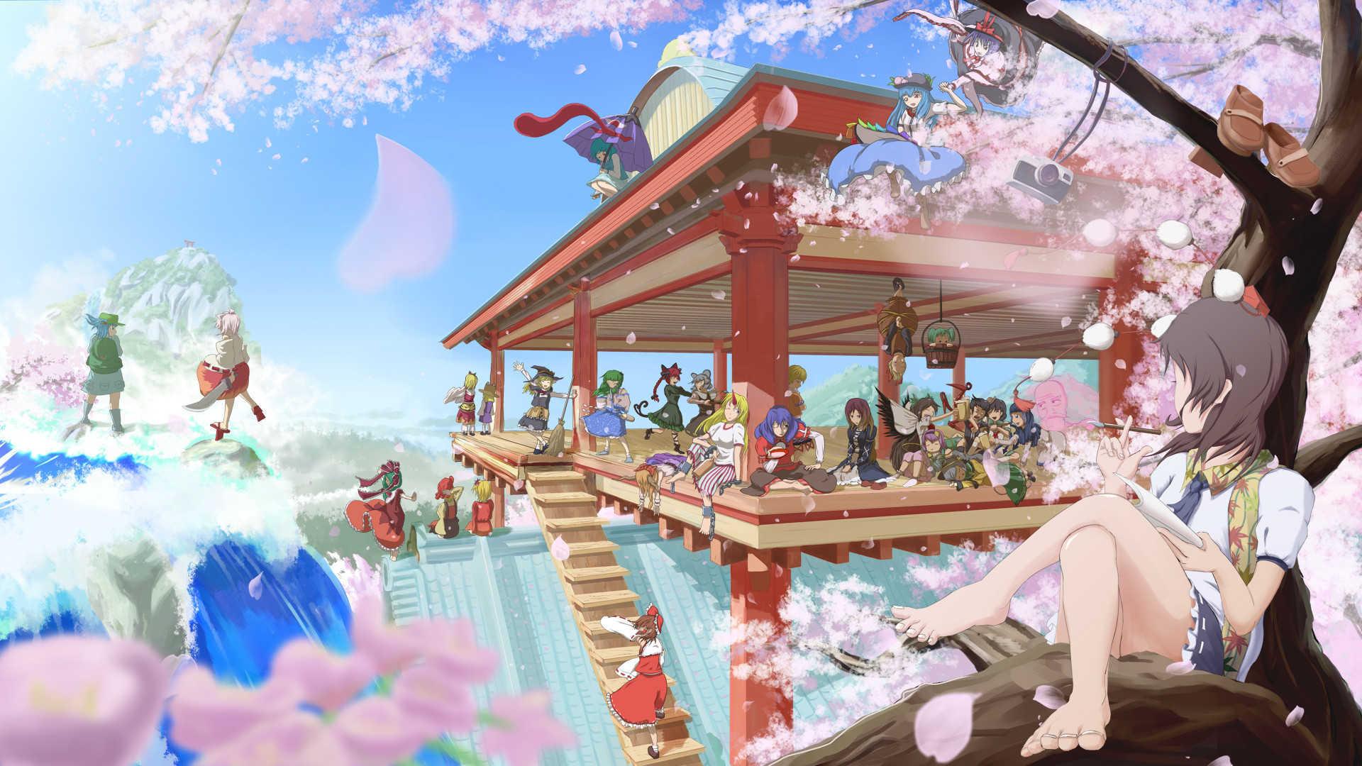 Blue Touhou Clouds Unzan Ichirin Skyscapes Kumoi
