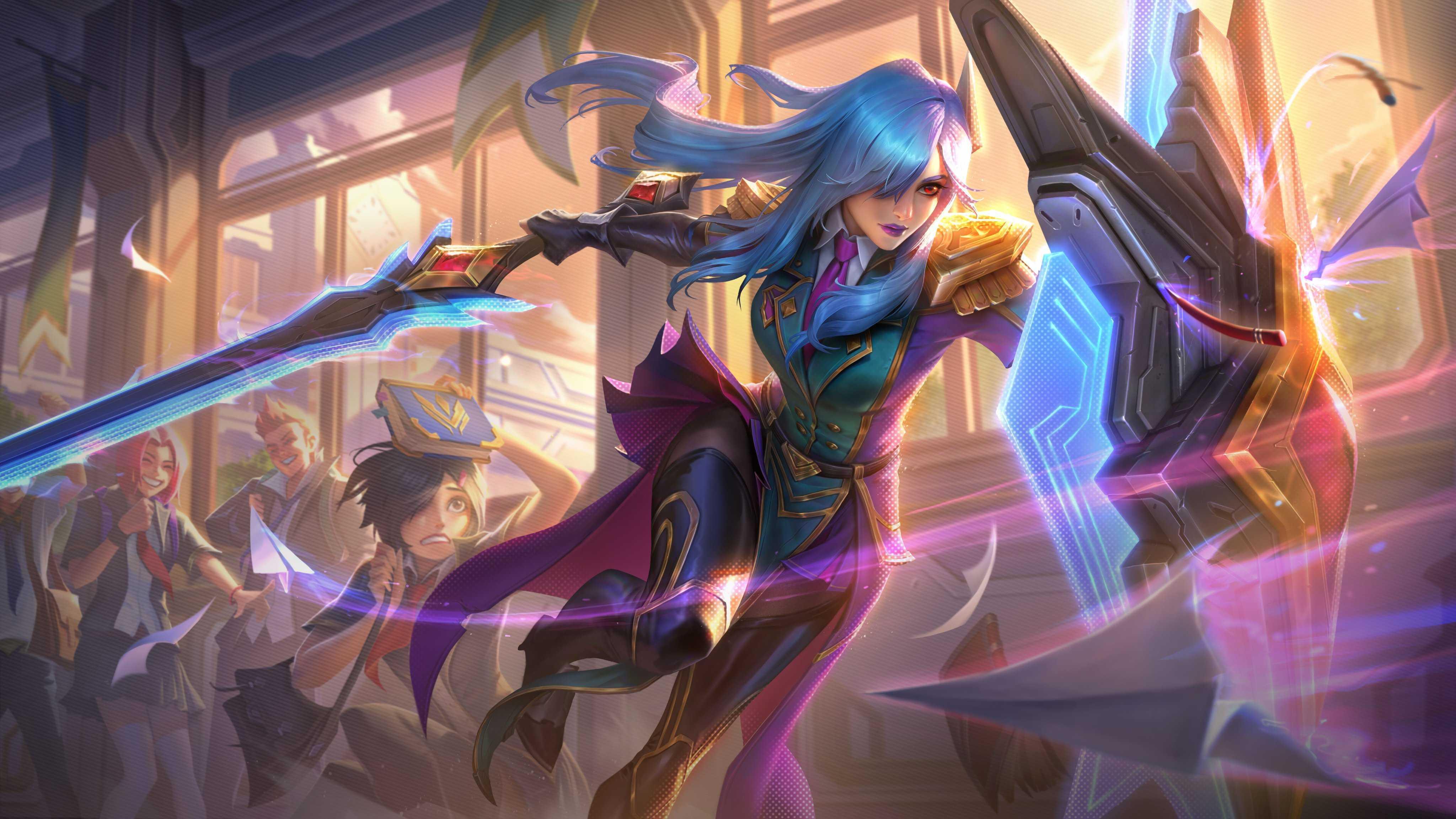 Desktop Wallpaperof League Of Leona Legends