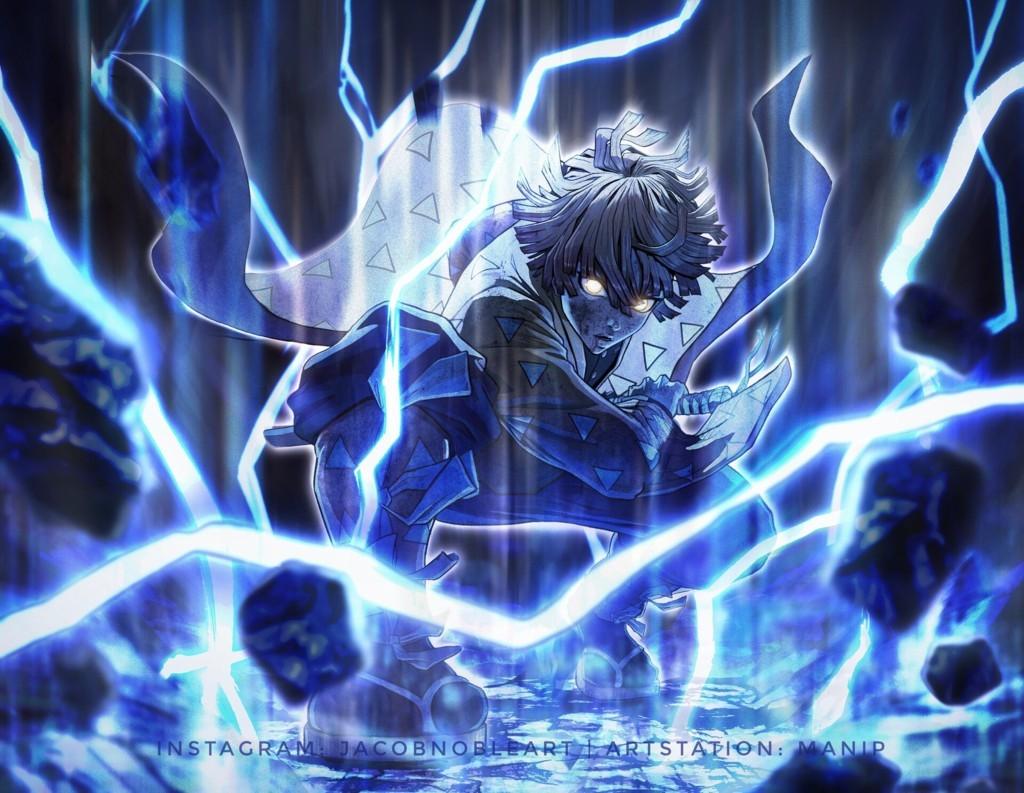 Download Wallpaper Zenitsu Agatsuma Demon Hunter Kimetsu No 4k