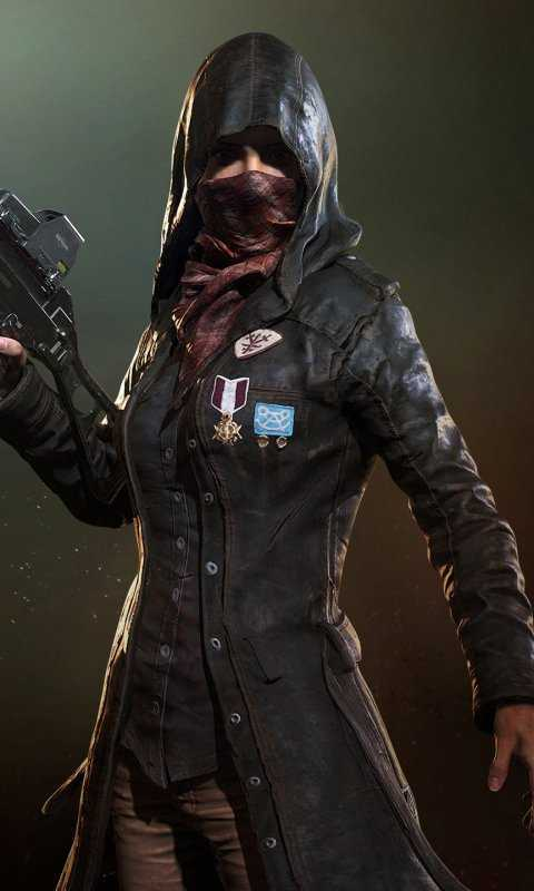 Girl With Mask Pubg Wallpaper Mobile