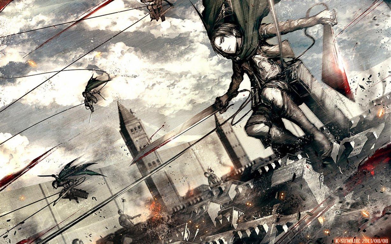 Mikasa Ackerman Attack On Wallpaper Titan