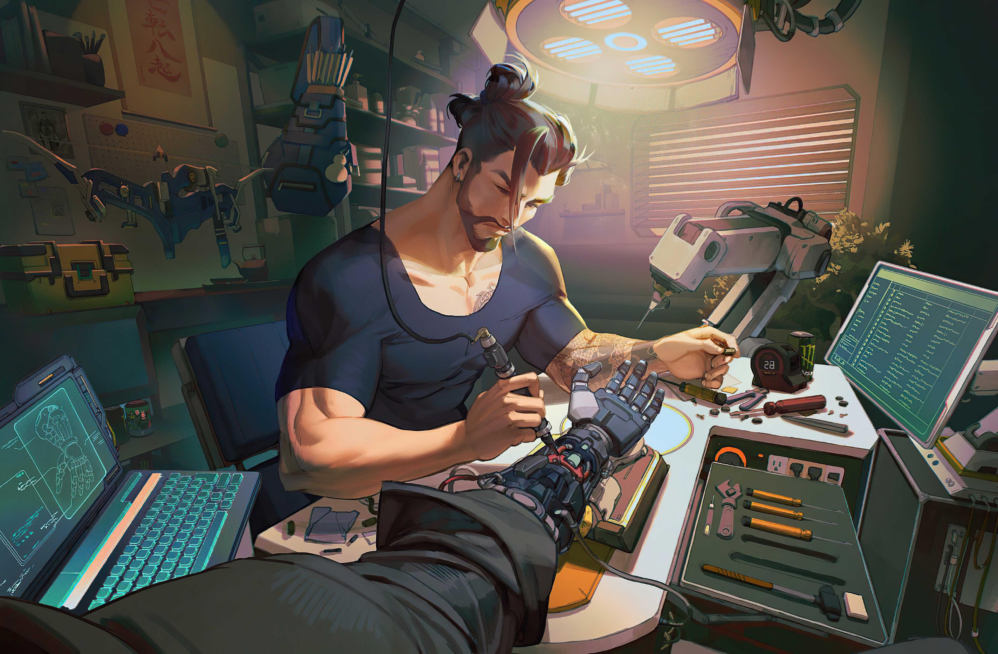 Overwatch Hanzo Hd Wallpaper