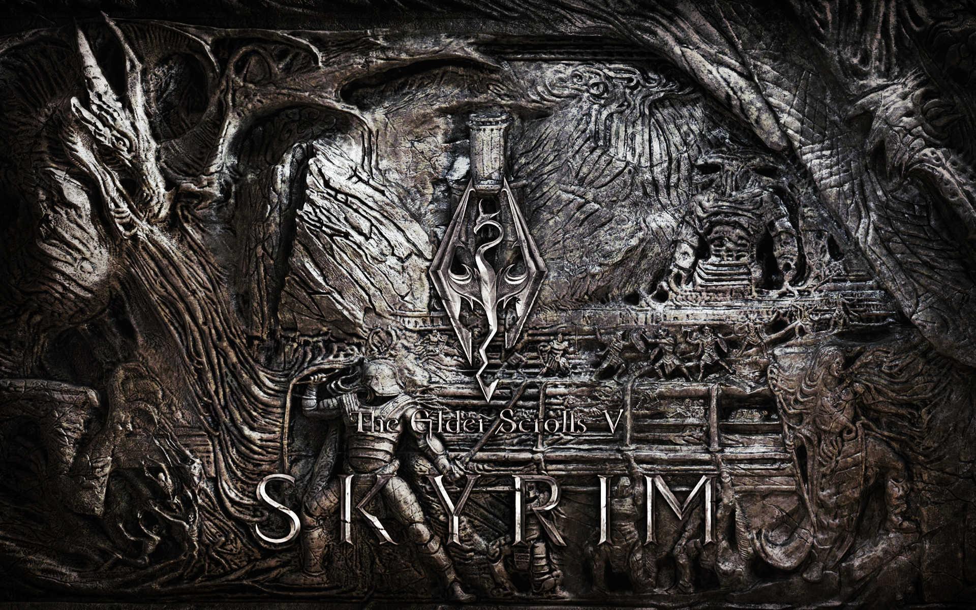 Ultra Hd The Elder V Skyrim Wallpaper Scrolls