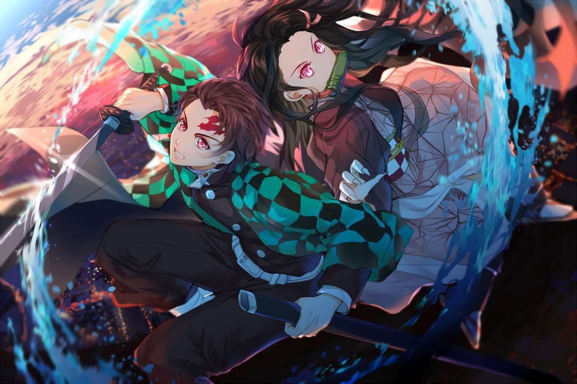 Wallpaper Of Anime Demon Nezuko Kamado Slayer