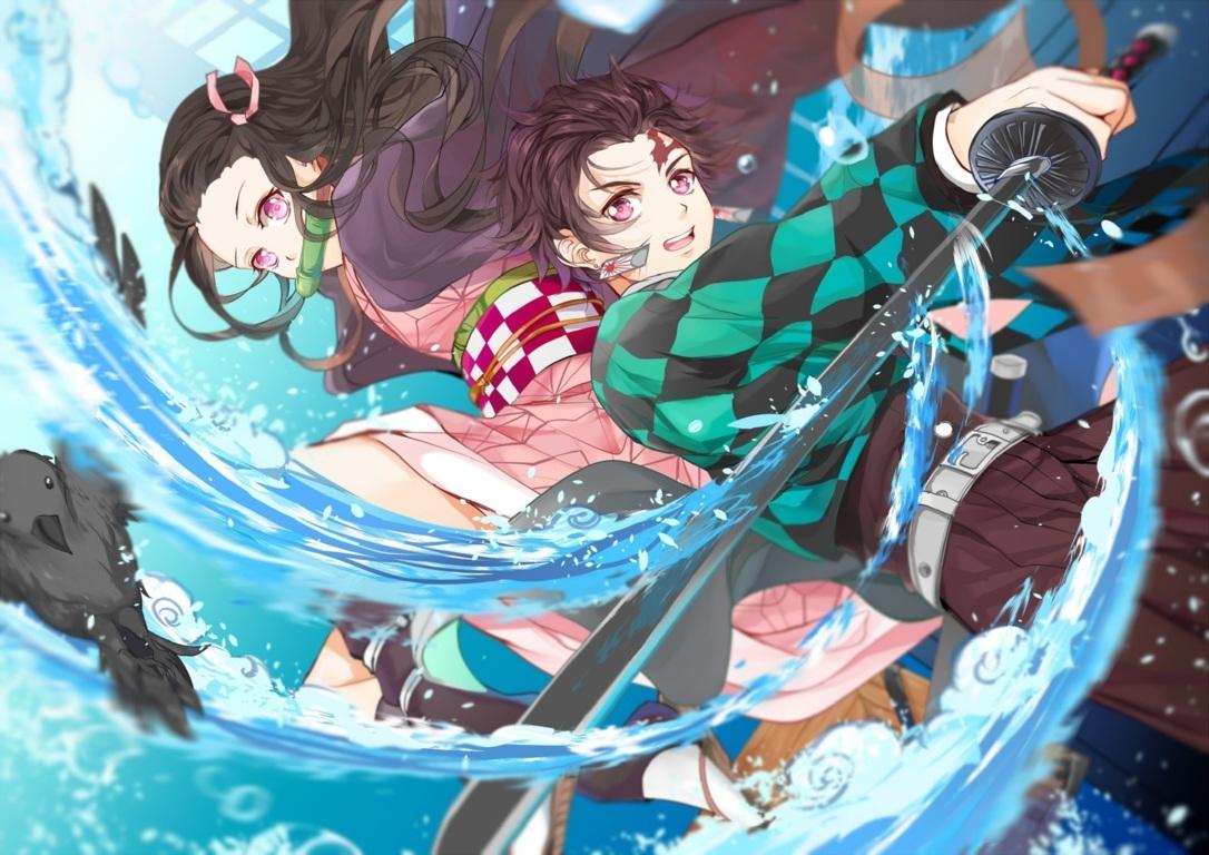 Wallpaper Of Anime Demon Nezuko Kamado Tanjirou Background Slayer