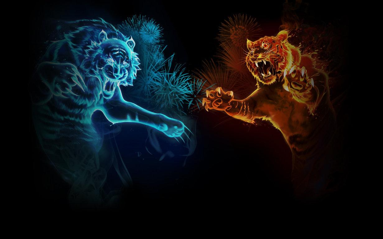 Abstract Tiger Wallpaper