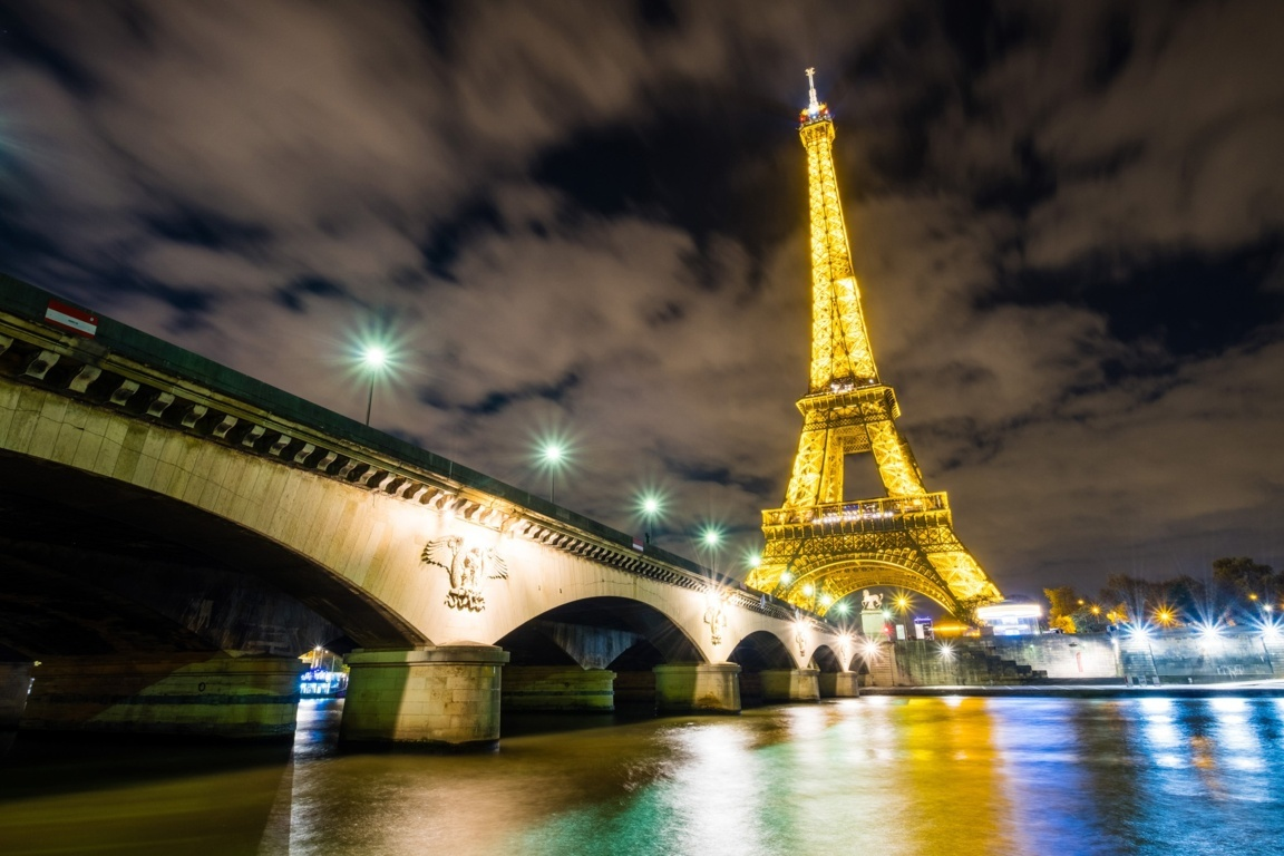 Amazing Eiffel Tower At Time Wallpaper Eiffel Tower Evening