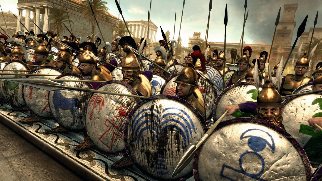 Artistic Painting Rome Gladiator Background Image Hd