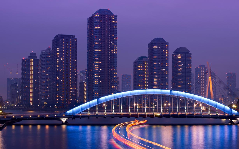 Blue Hour Over Tokyo Hd Desktop Wallpaper For 4k Ultra Tv 4k