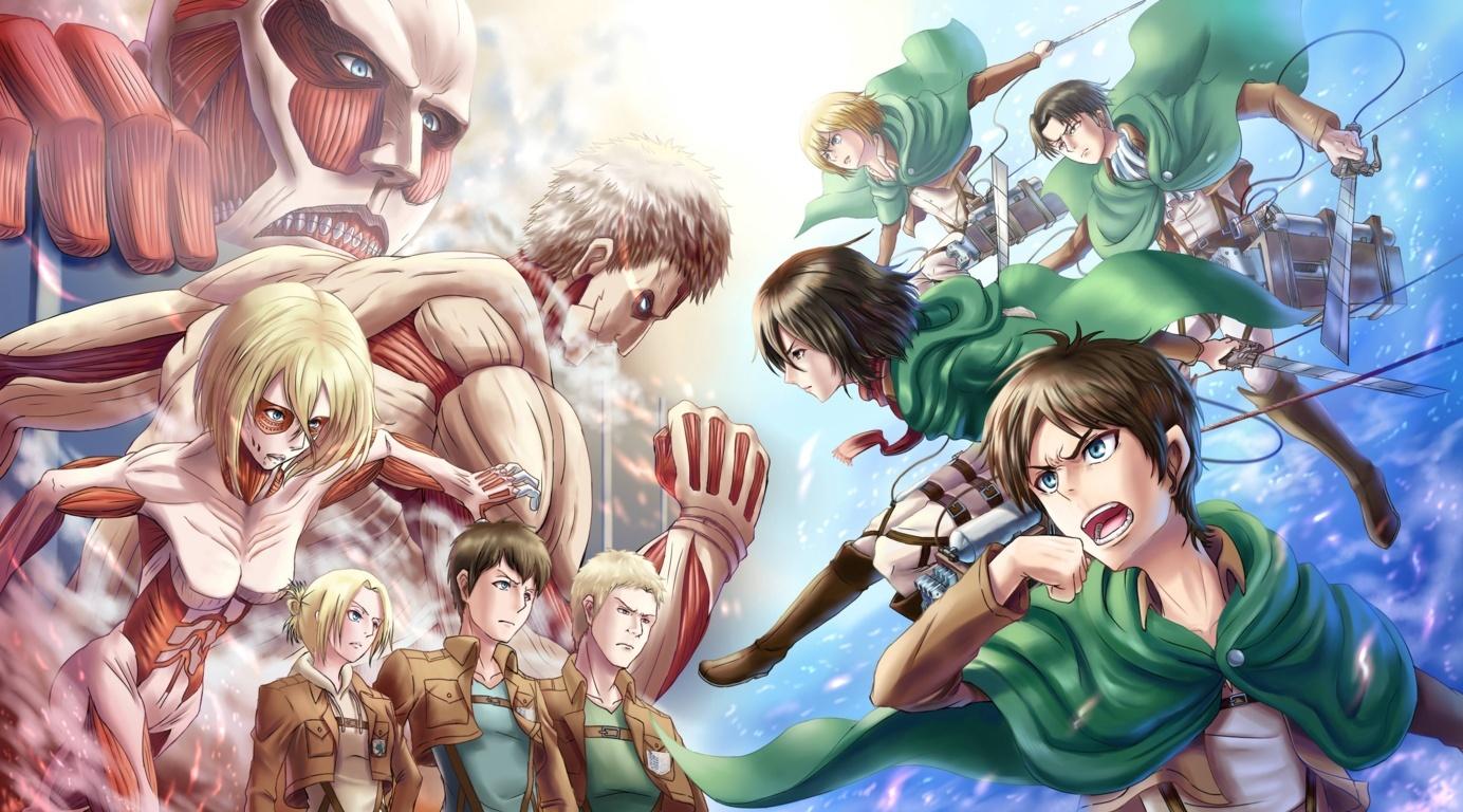 Colossal Titan Attack Titan On Titan Shingeki No Kyojin 4k Attack
