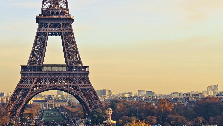 Eiffel Tower At Night France Paris