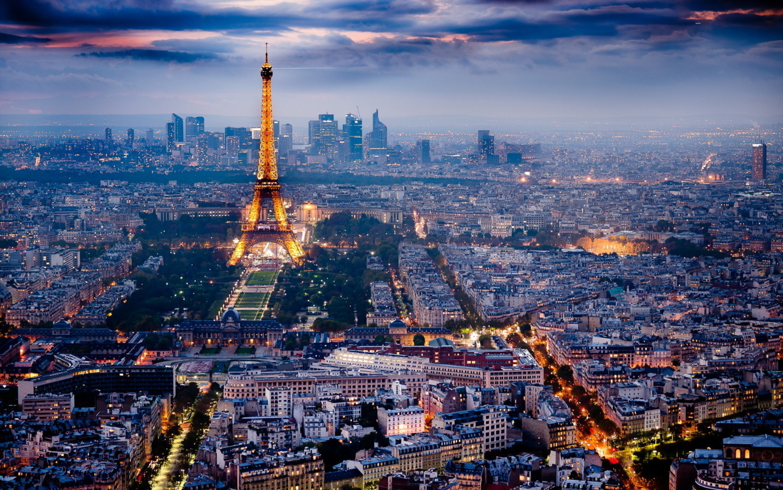 Eiffel Tower At Night Wallpaper France