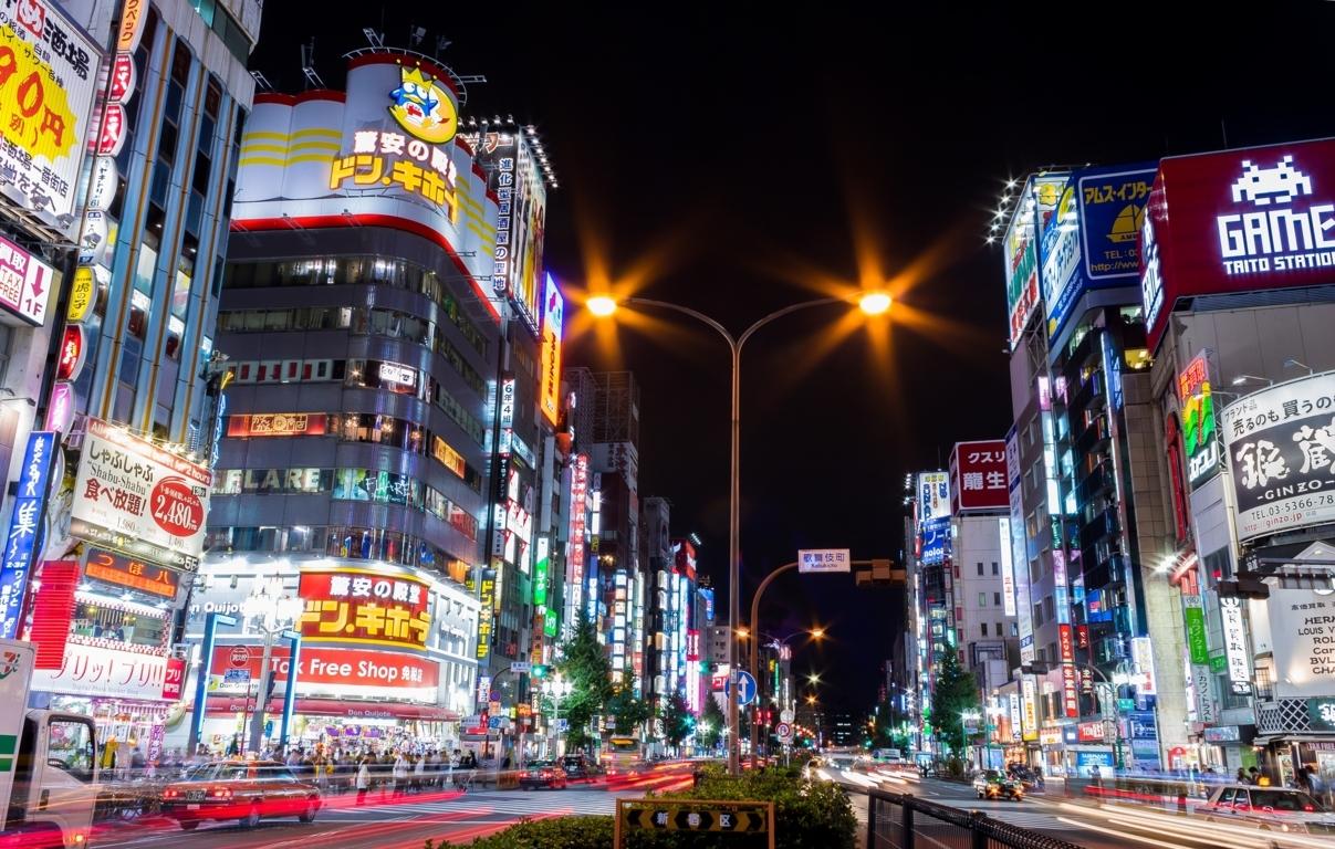 Japan Tokyo Street Night Wallpaper Desktop