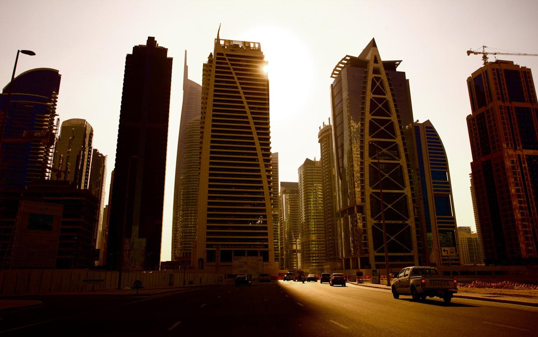 Man Made Burj Khalifa Dubai City Night Hd Wallpaper Background Buildings