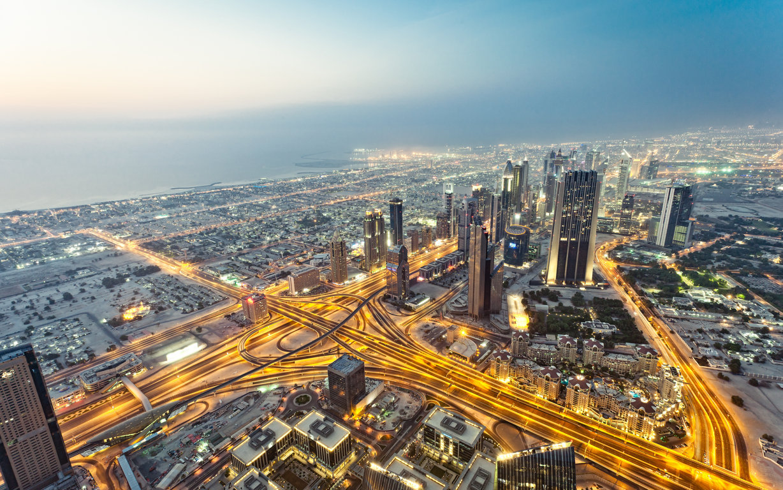Man Made Burj Khalifa Dubai City Night Hd Wallpaper Background Image Buildings
