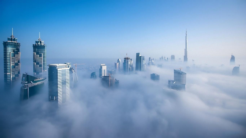 Man Made Burj Khalifa Dubai City Night Hd Wallpaper Image Buildings