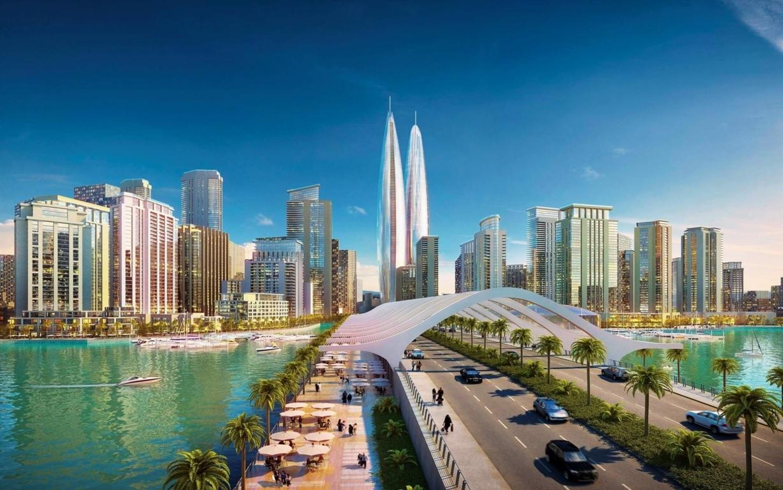 Man Made Burj Khalifa Dubai United Arab Emirates Cityscape Road Light Hd Background Image Buildings
