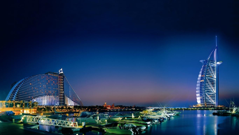Man Made Burj Khalifa Dubai United Arab Emirates Cityscape Road Light Hd Wallpaper Background Buildings