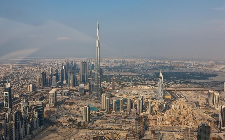 Man Made Dubai Cities Arab Emirates Architecture City Cityscape Aerial Panorama Building Skyscraper Hd Background Image United