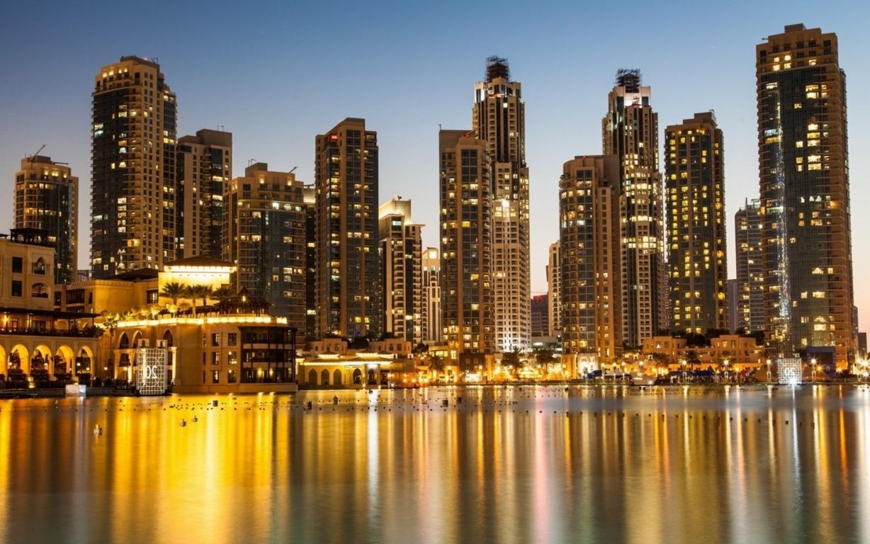 Man Made Dubai Cities Arab Emirates Architecture City Cityscape Aerial Panorama Building Skyscraper Hd Wallpaper Background United