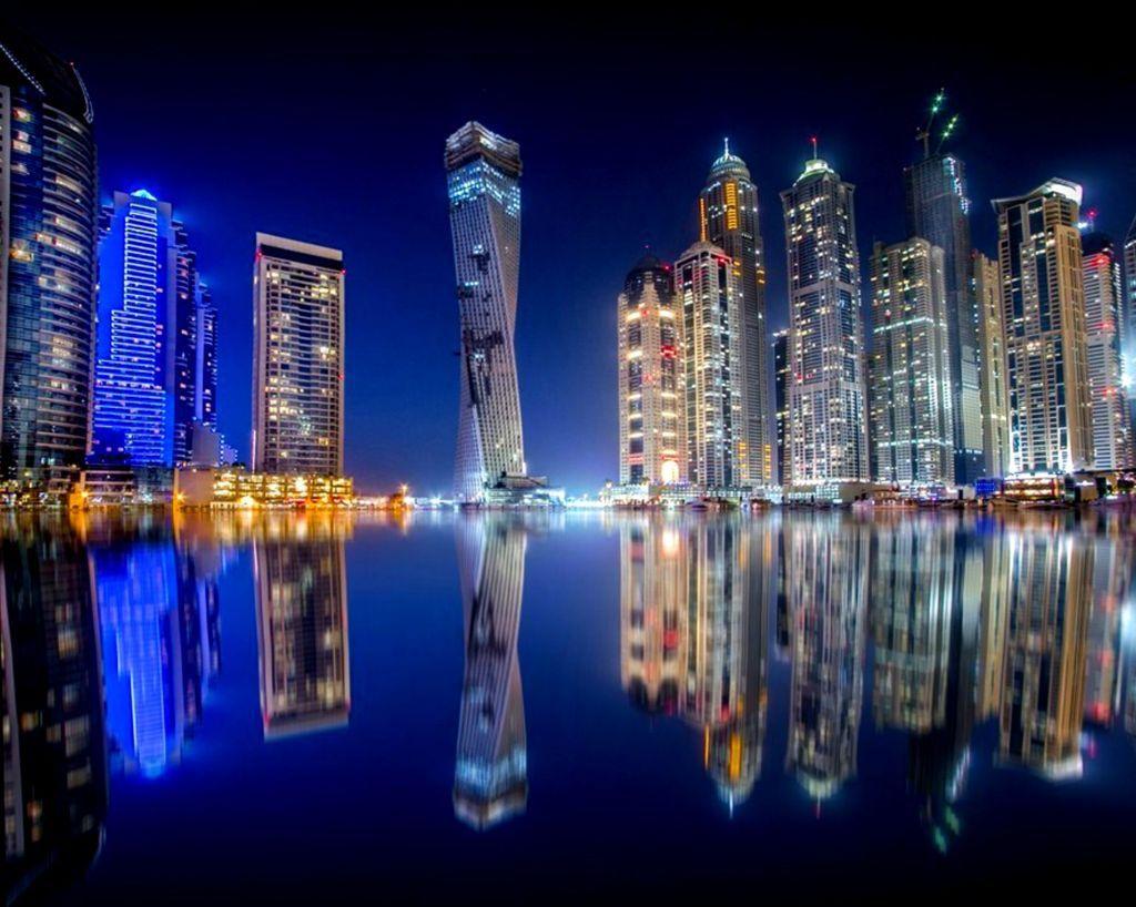 Man Made Dubai Cities Arab Emirates Architecture City Cityscape Aerial Panorama Building Skyscraper Hd Wallpaper Image United