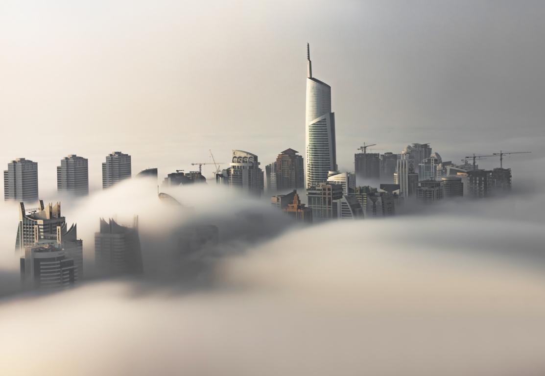 Man Made Dubai Cities Arab Emirates Burj Khalifa City Megapolis Night Hd Background Image United