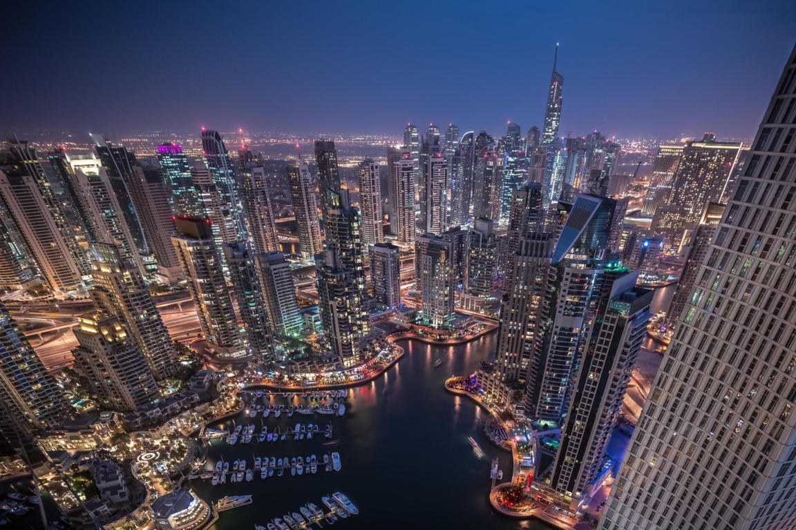 Man Made Dubai Cities Arab Emirates Burj Khalifa City Megapolis Night Hd Wallpaper Background United
