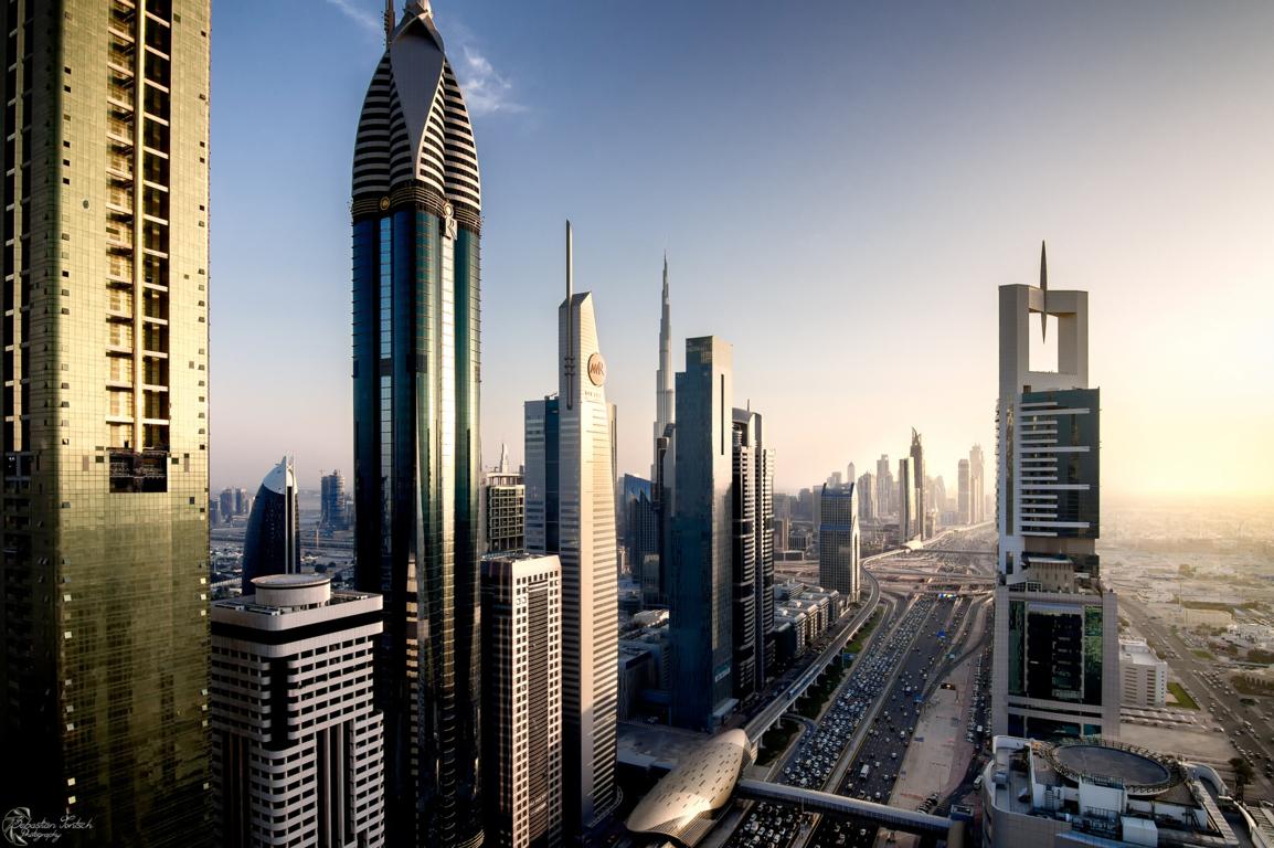 Man Made Dubai Cities Arab Emirates City Hotel Pool Skyscraper Building Hd Background Image United