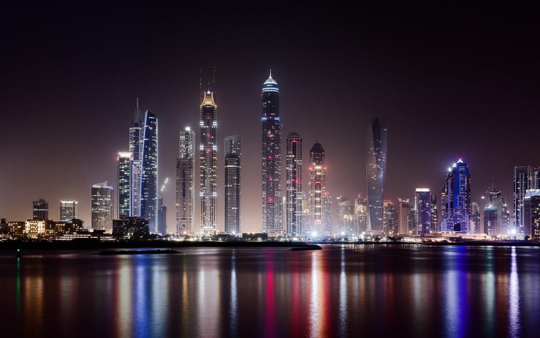 Man Made Dubai Cities Arab Emirates City Hotel Pool Skyscraper Building Hd Wallpaper Image United