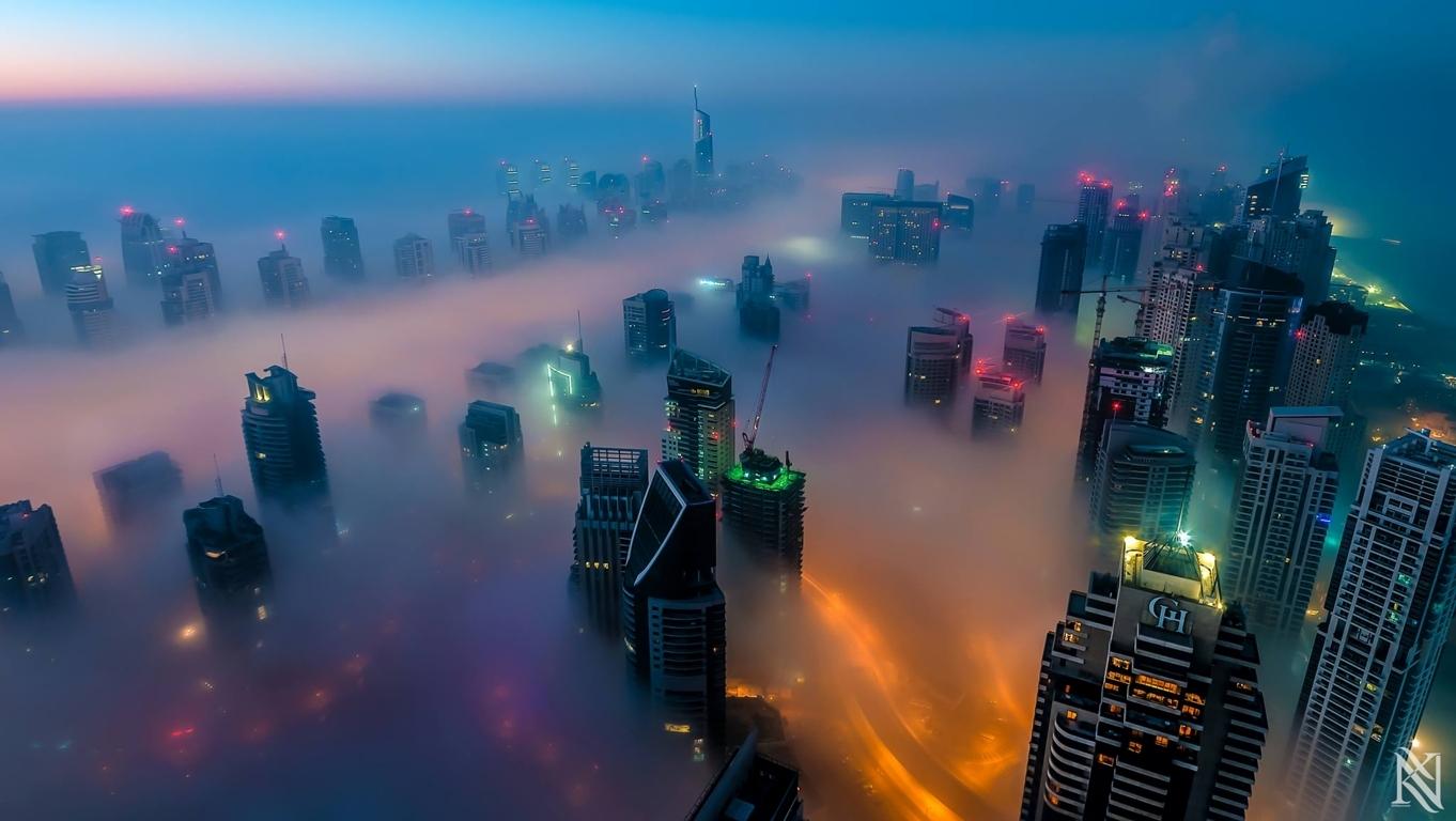 Man Made Dubai Cities Arab Emirates Man City Light Night Hd Wallpaper Image United