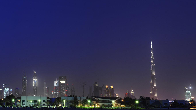 Man Made Dubai Cities Arab Emirates Skyscraper Building City Fog Aerial Hd Background Image United