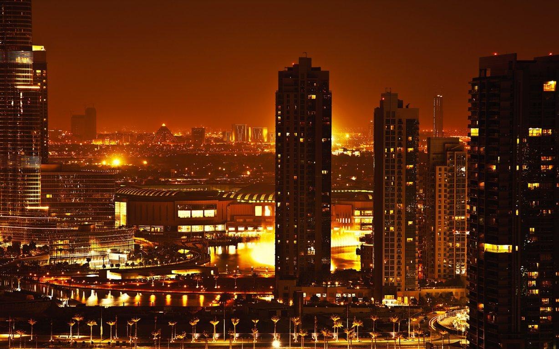 Man Made Dubai Cities Arab Emirates Skyscraper Building City Fog Aerial Hd Wallpaper Background Image United