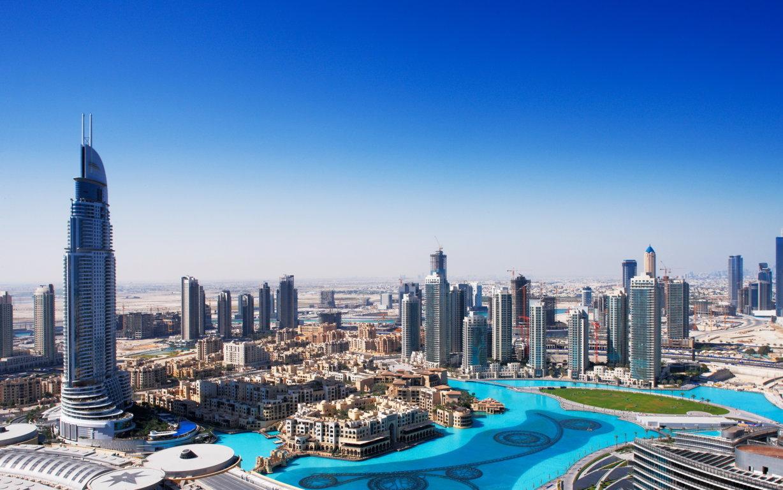 Man Made Dubai Cities Arab Emirates Skyscraper Building City Fog Aerial Hd Wallpaper Background United