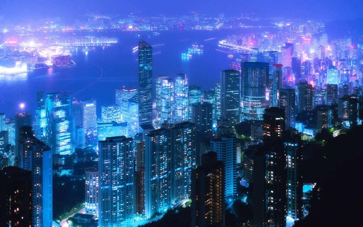 Man Made Hong Kong China Aerial Cityscape Cloud City Hd Background Image Cities