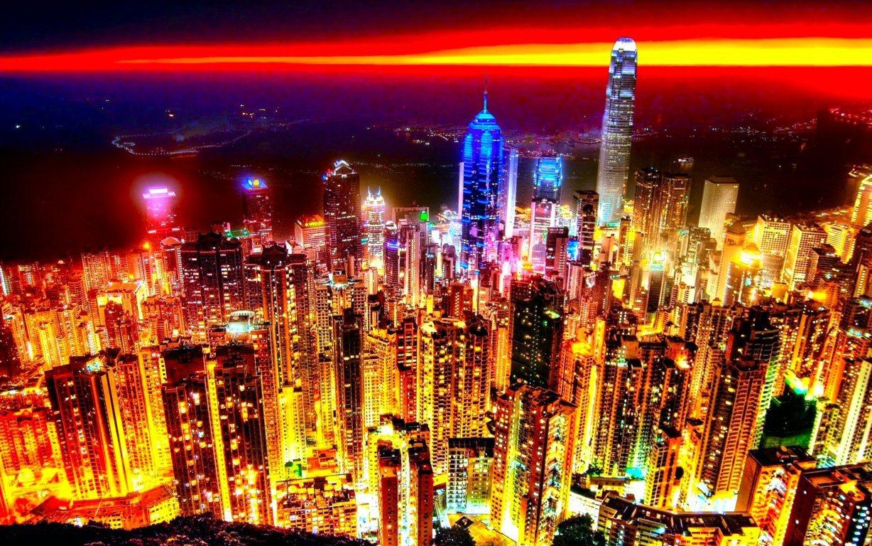 Man Made Hong Kong China Aerial Cityscape Cloud City Hd Wallpaper Background Cities