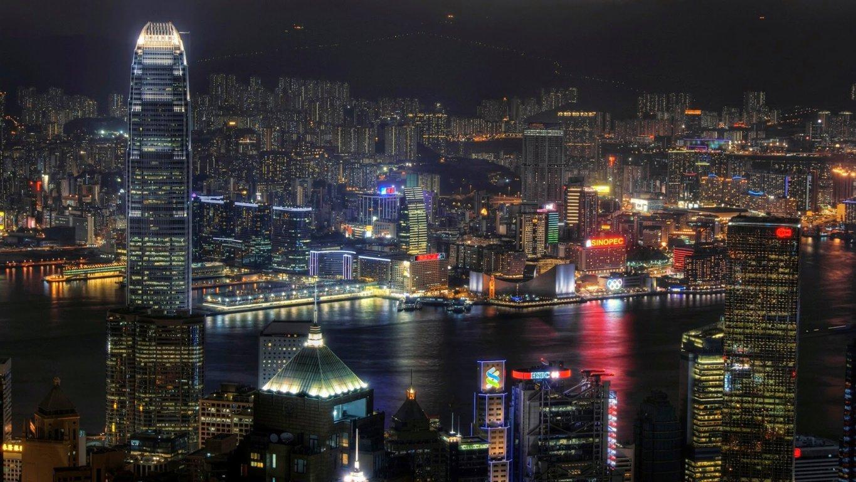 Man Made Hong Kong China Aerial Cityscape Cloud City Hd Wallpaper Background Image Cities