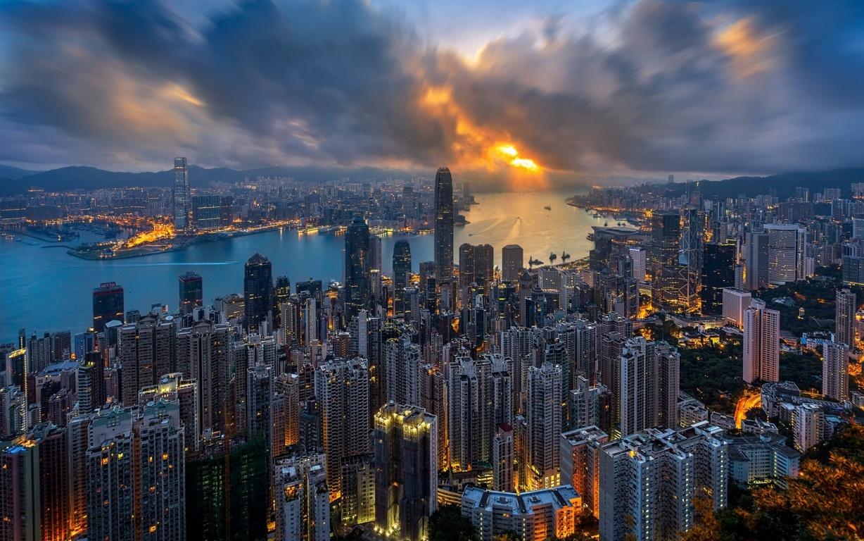 Man Made Hong Kong China City Building Skyscraper Hd Background Image Cities