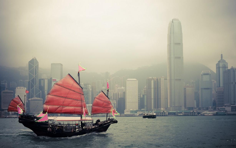 Man Made Hong Kong China City Light Skyscraper Night Building Reflection Hd Wallpaper Background Cities