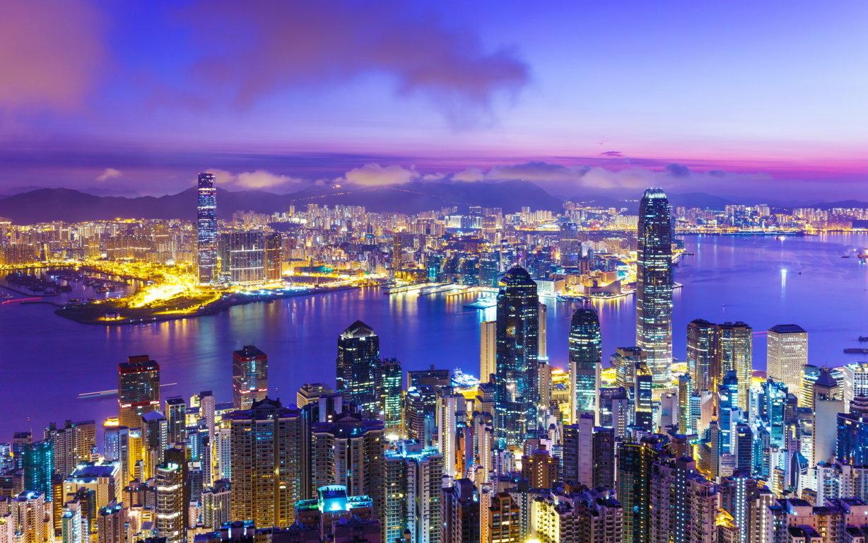 Man Made Hong Kong China City Light Skyscraper Night Building Reflection Hd Wallpaper Image Cities