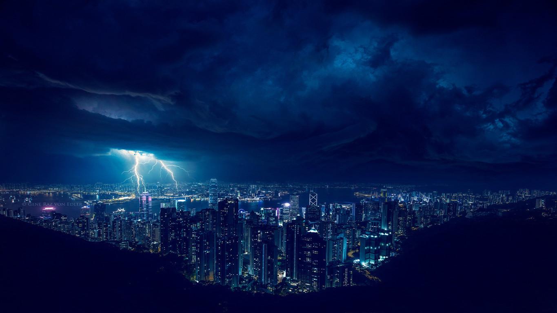 Man Made Hong Kong China Hdr Cityscape Hd Wallpaper Image Cities
