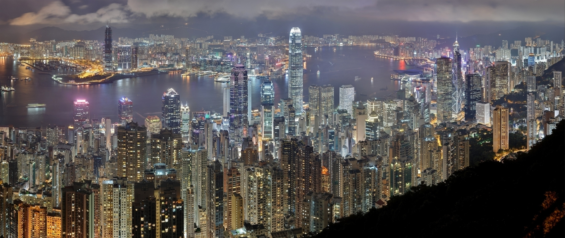 Man Made Hong Kong China Reflection Twilight Architecture Building Cityscape Hd Background Image Cities