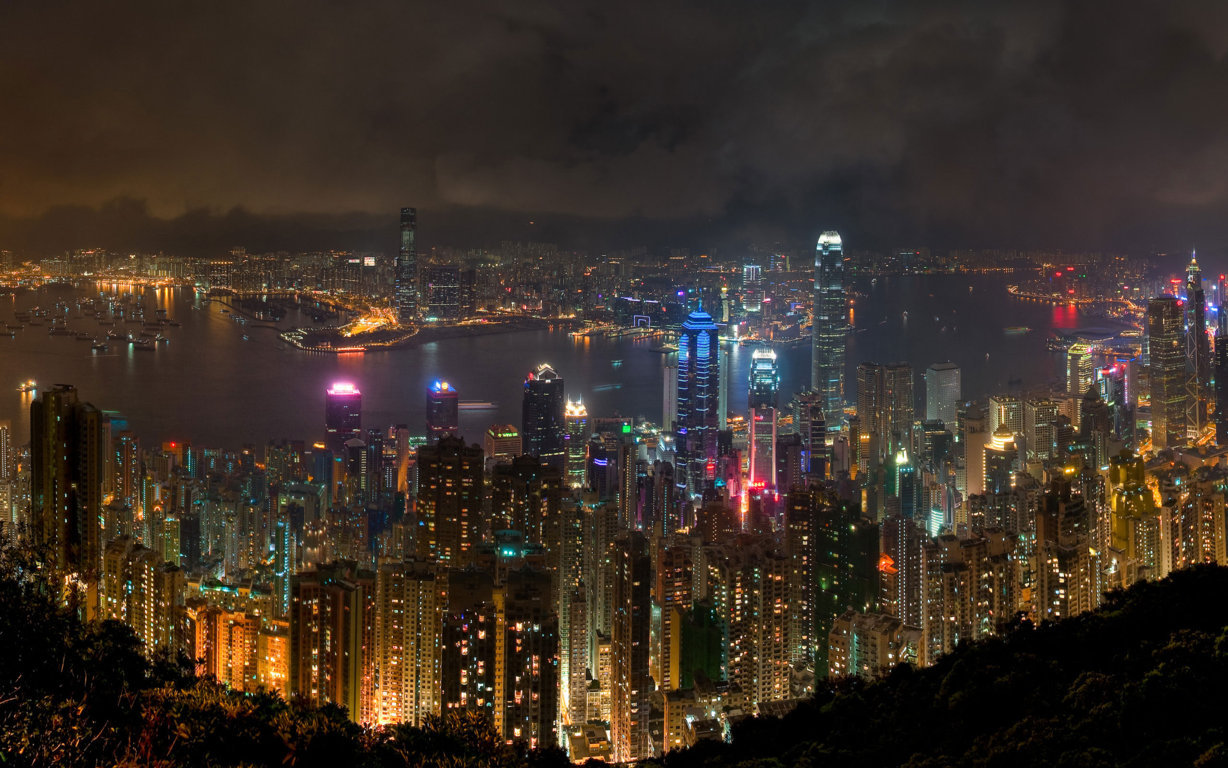 Man Made Hong Kong China Reflection Twilight Architecture Building Cityscape Hd Wallpaper Background Cities