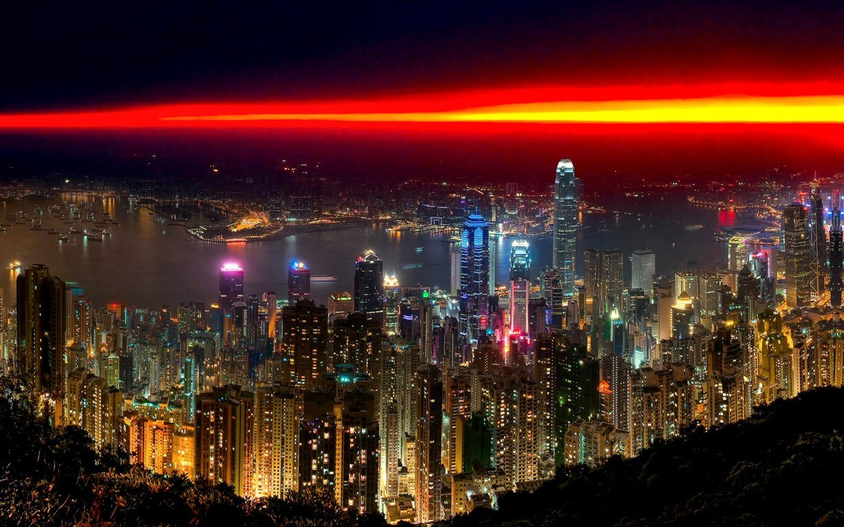 Man Made Hong Kong China Victoria Harbour City Hd Background Image Cities