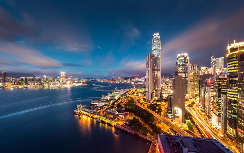 Man Made Hong Kong China Victoria Harbour City Hd Wallpaper Background Cities