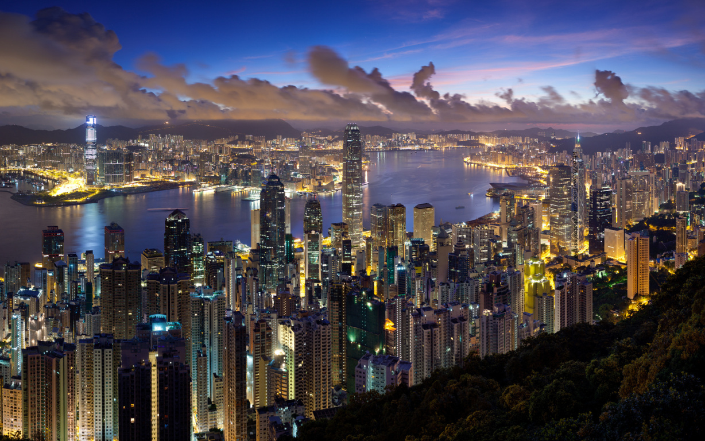 Man Made Hong Kong China Victoria Harbour City Hd Wallpaper Image Cities