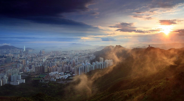 Man Made Hong Kong China Victoria Harbour City Skyscraper Sky Cloud Hd Wallpaper Background Cities