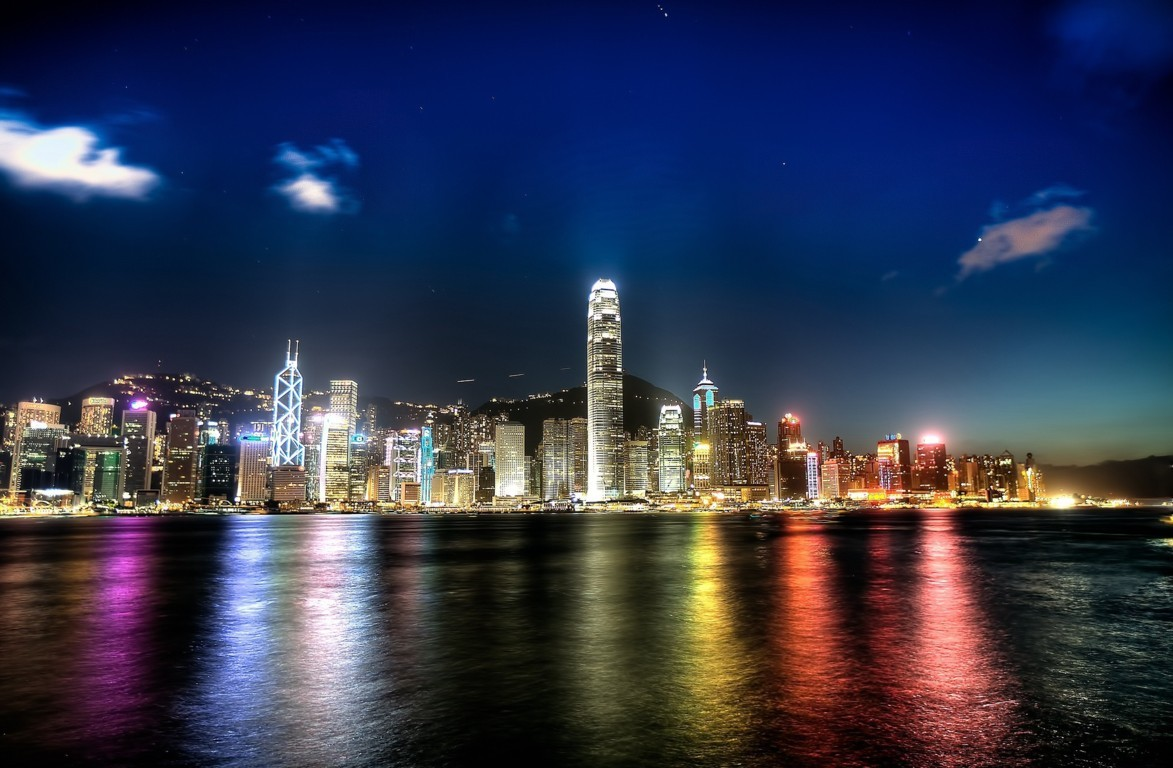 Man Made Hong Kong China Victoria Harbour City Skyscraper Sky Cloud Hd Wallpaper Background Image Cities
